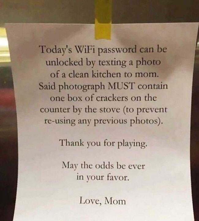 Today's WiFi password..