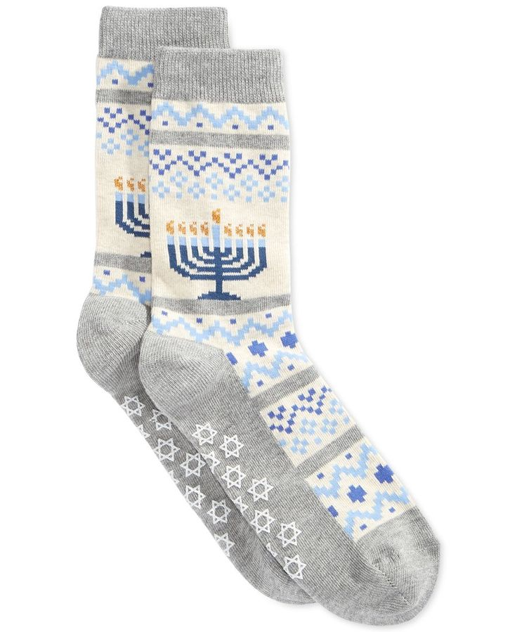 Hot Sox Women's Menorah Non Skid Socks