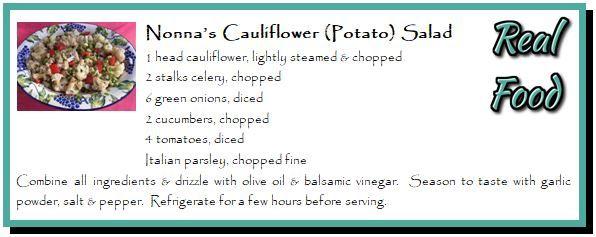 Nonna's Cauliflower (Potato) Salad
