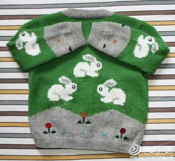 nice sweater with bunnies
