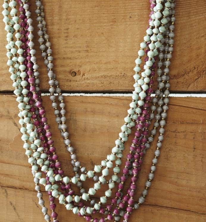 Classic and timeless eco style - Camellia necklaces in grey, mint and fuchsia. AU$42.95 http://www.ecobella.com.au/eco-woman/camellia.html