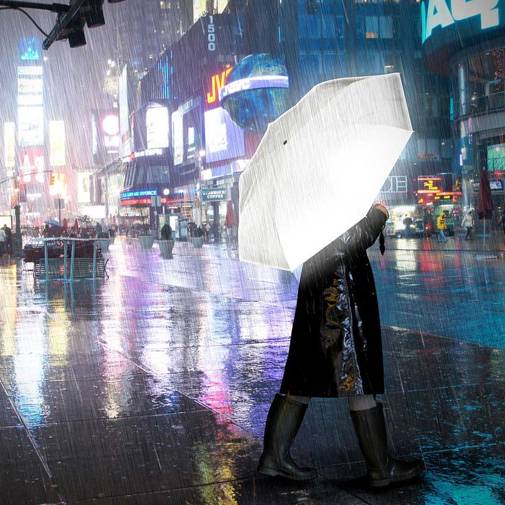Hi Reflective Umbrella | Shine a light through the stormiest night with this highly reflective, foldable umbrella. | UncommonGoods