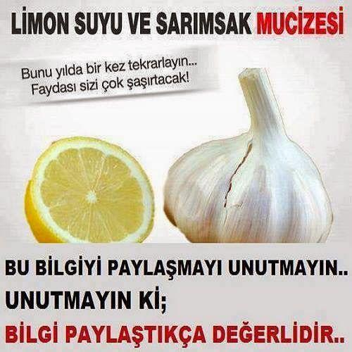 Limon suyu ve Sarımsak mucizesi 2 litre limon suyu,40 diş soyulmuş ve ezilmiş sarımsak, ağzı sıkı Kapanan koyu renkli veya üzeri kağıtl...