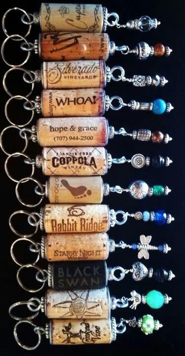 portes clefs bijoux avec bouchon flotteur