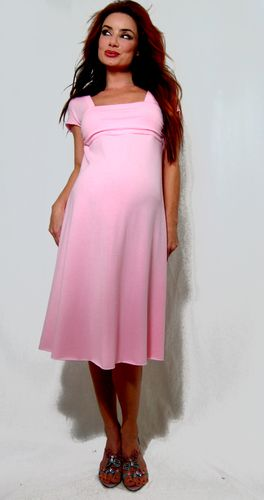 beaucutecom pink maternity dress 19 baby shower