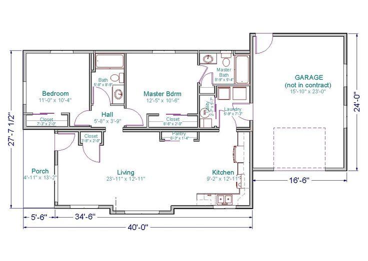 Impressive 30 X 40 House Plans #3 Small Ranch House Floor Plans