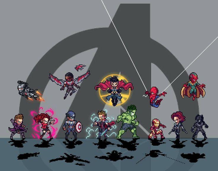 Love this Pixel Sprite Marvel Avengers Image by http://ift.tt/2CMXNQc  #marvel #avengers #pixels #sprites #ironman #FLYGUY #FLYGUYtoys #Googleplus