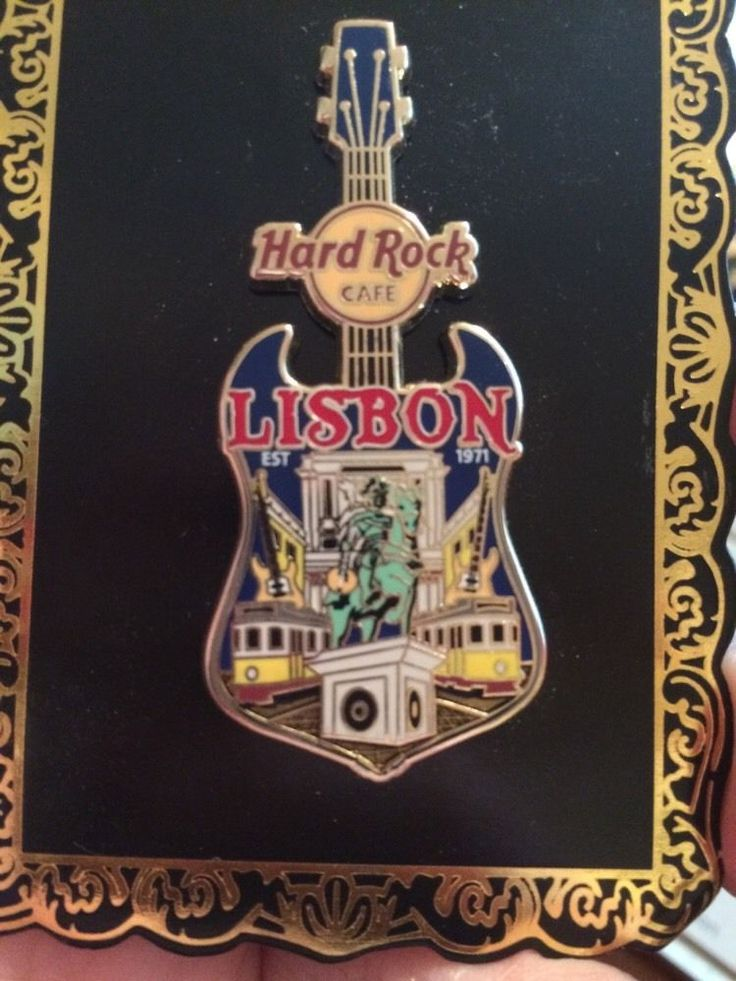 hard rock cafe lisbon v14 city tee guitar pin ebay hard rock cafe pins pinterest lisbon. Black Bedroom Furniture Sets. Home Design Ideas