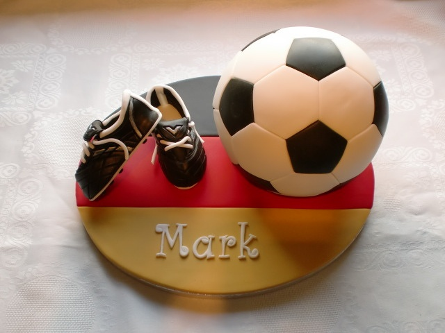 Football cake with the Germany Flag
