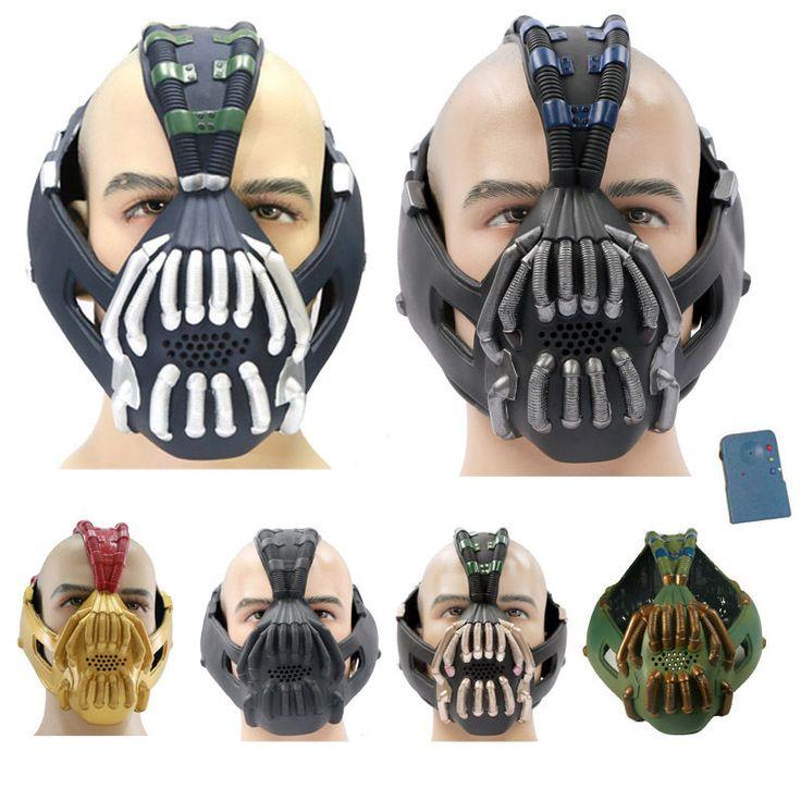 TDKR Dark Knight Bane Mask Tom Hardy PVC Cosplay Helmet Voice Changer Christmas #Unbranded