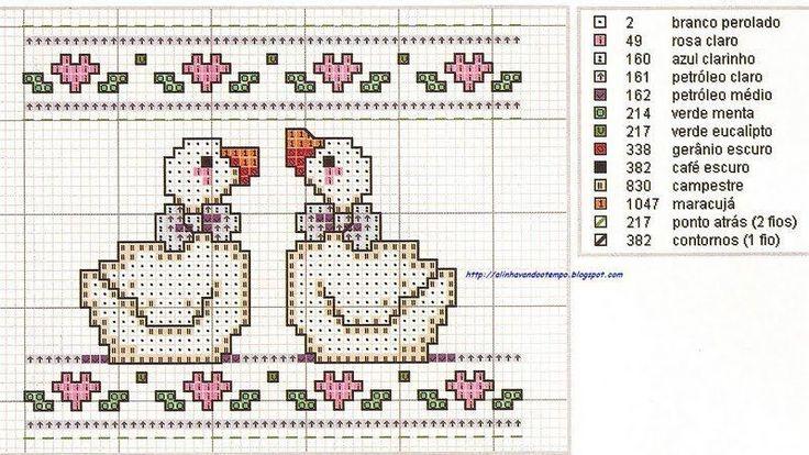 Cross-stitch Country Geese Mini pattern... bonito bordado
