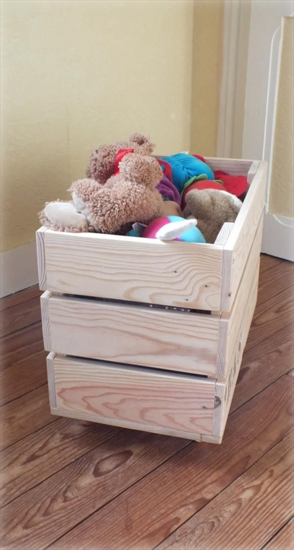 DIY Pallet Toy #Storage Box | 99 Pallets