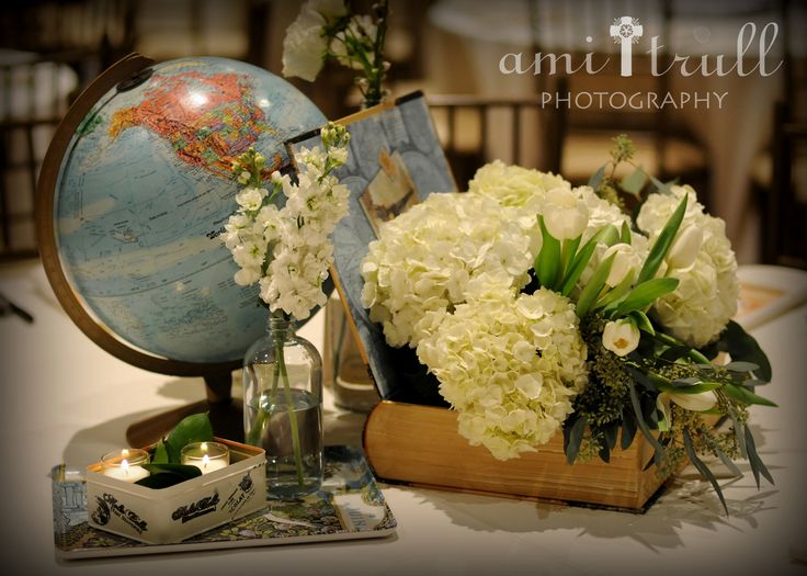 globe, flowers, candles