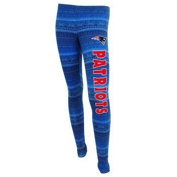 New England Patriots Women's aztec blue leggings
