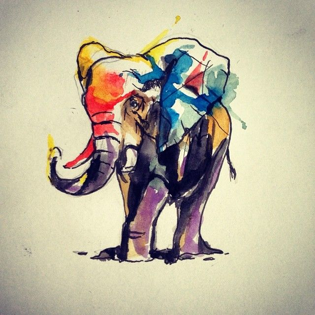 super cute #elephant #tattoo Like, Comment, Repin !!