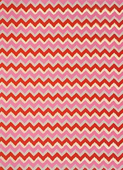"Fuchsia & Gold Chevron Fine Paper: 22"" x 30"" (4.95)  This fabulous chevron paper features a bold fuchsia and gold design for a modern look with dramatic impact."