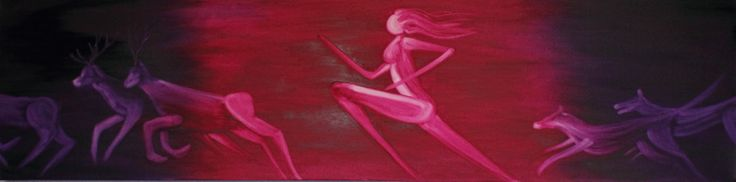 Artemis. Oil on canvas. Warrior Goddess, hunter and protector x