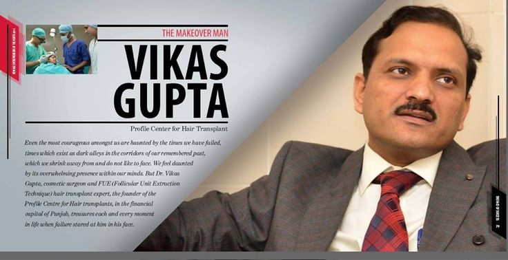 Explore the data and fetch the information about doctor vikas gupta India's best hair transplant surgeon.