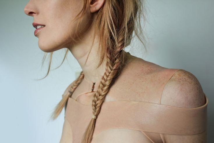 hybrid skins combines fashion with nanotechnology + cloning - designboom   architecture & design magazine