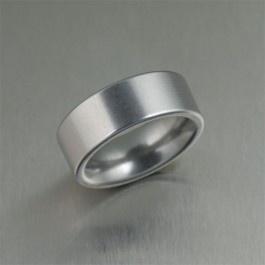 9mm Matte Stainless Steel Men's Wedding Ring