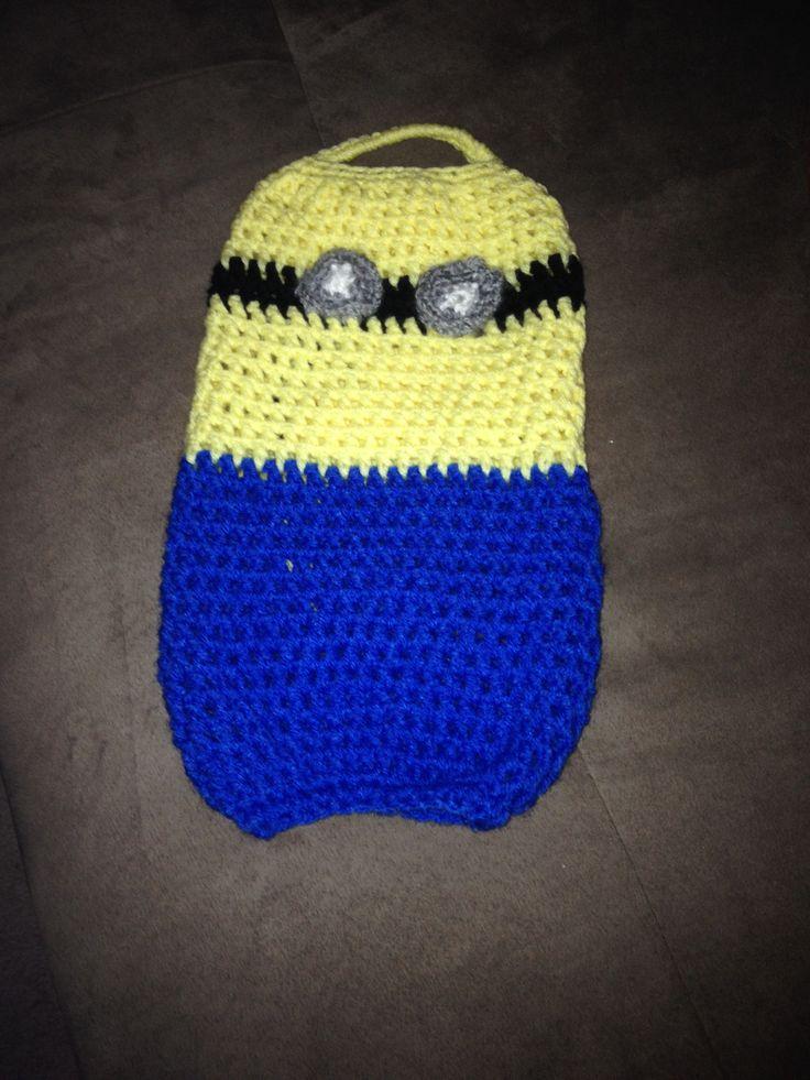 Crochet Minion Bag Pattern : 91 best images about Crochet Plastic Wraps & Bag Holders ...