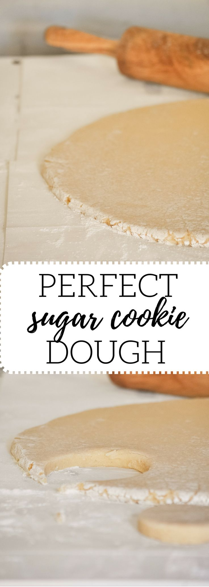 This is the easiest, best sugar cookie dough you'll ever make. If you are searching for that thick, soft, and moist sugar cookie, you have found it. The almond buttercream tops the cookie off perfectly.