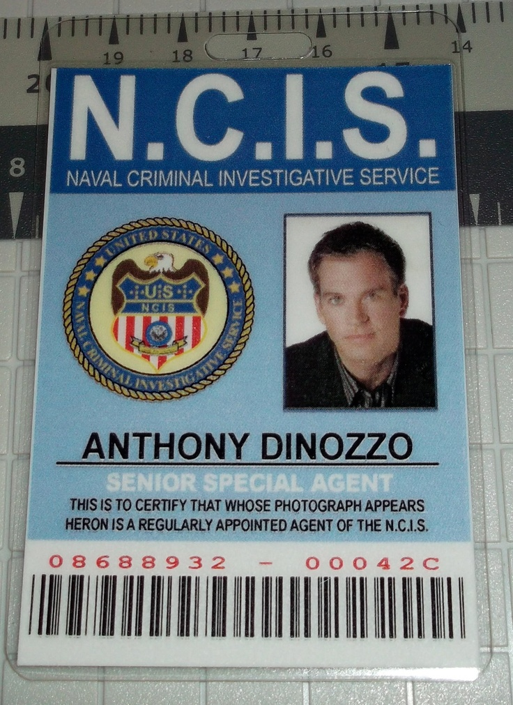 NCIS Anthony Dinozzo ID  Senior Special Agent  prop by UncleJacks, $5.99