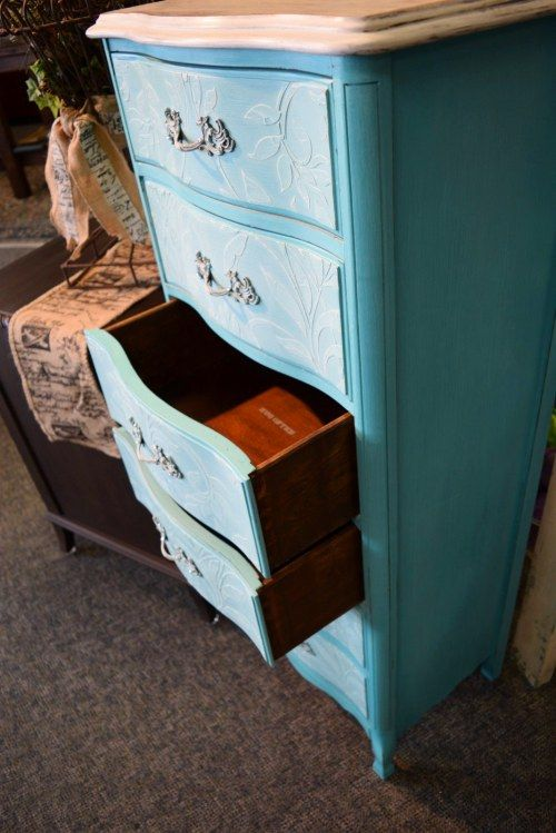 17 best images about painted shades of turquoise teal aqua for Painting over lead paint on furniture