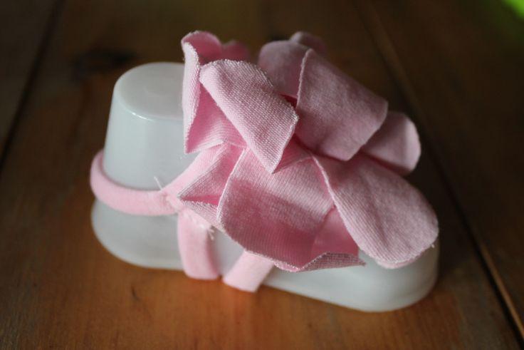 Baby Foot Flowers Pink