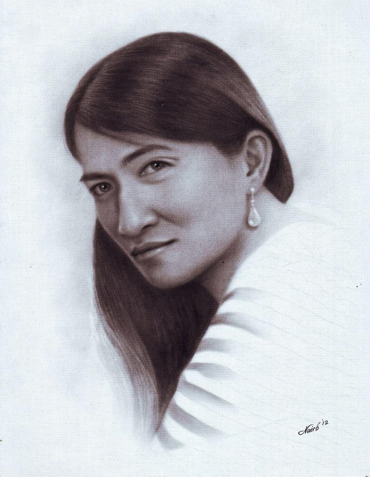 Lorna Edralin Ingua - Sketching by Nairb Lambating in My Portrait at touchtalent