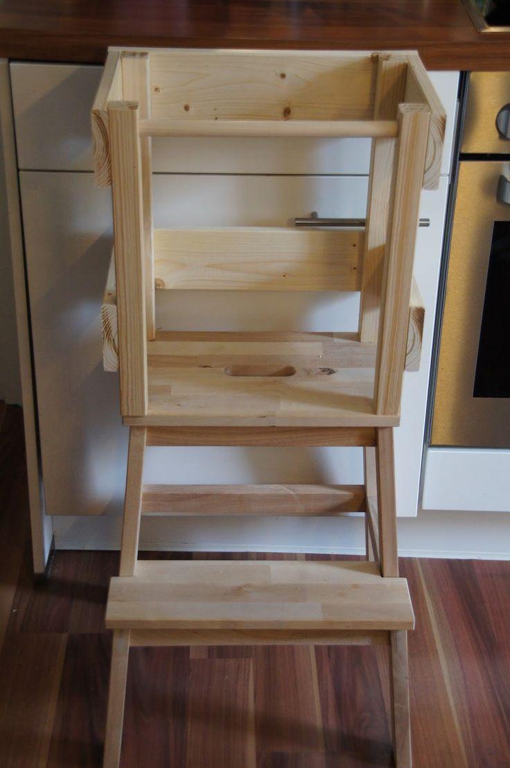 bauanleitung f r einen learning tower lernturm aus ikea hocker bekv m. Black Bedroom Furniture Sets. Home Design Ideas