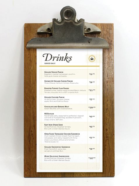 Drinks Menu || dribbble.com
