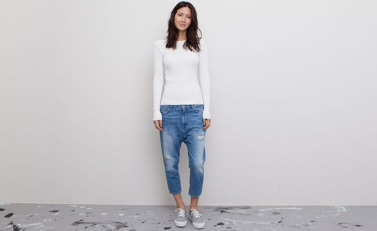 Pull&Bear - woman - denim collection - ripped bedouin jeans - blue - 05682338-V2015