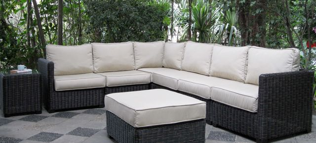 Introducing our new Veranda Sectional- Your choice of Driftwood Grey or Roasted Pecan