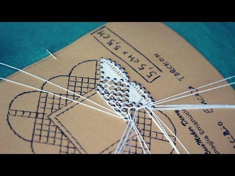 Merletto Torchon - Continuiamo la lavorazione step by step - YouTube