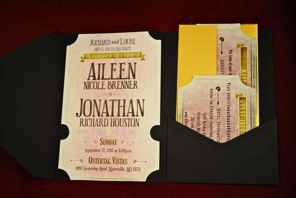 movie ticket wedding invitations | planning the shit out of my,