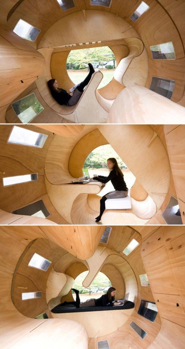 Designs showing unique initiative for economical use of space - so cool!