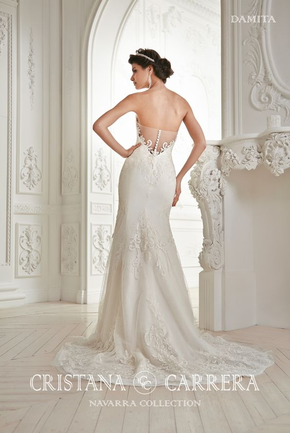 """Wedding Dress """" Damita"""" Cristana Carrera"""" Available in off white color, size 38/40uk tel.+27(0) 215564880 http://www.bridalallure.co.za/wedding-dresses/cristana-carrera/damita"""