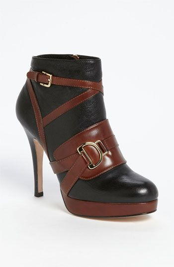 Love the contrast trim on these ankle booties