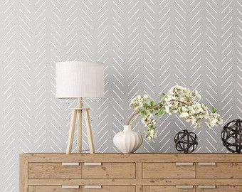 Forest Feathers wall stencil decorative by StenCilit on Etsy