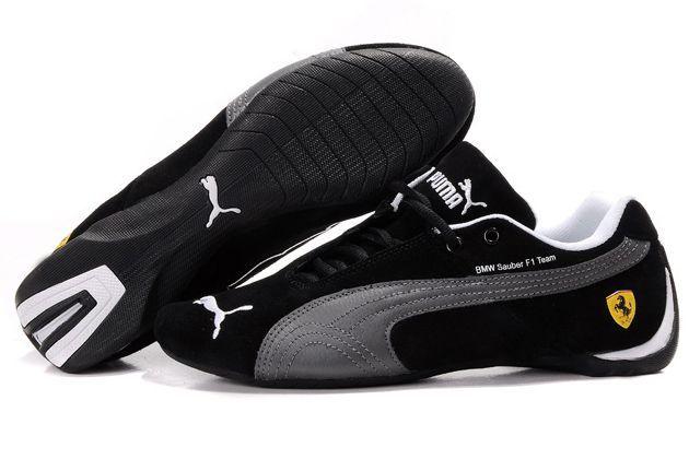 Black Silver Grey Puma BMW Sauber F1 Men Shoes - nice mens shoes brands, mens shoes online, cheap mens shoes
