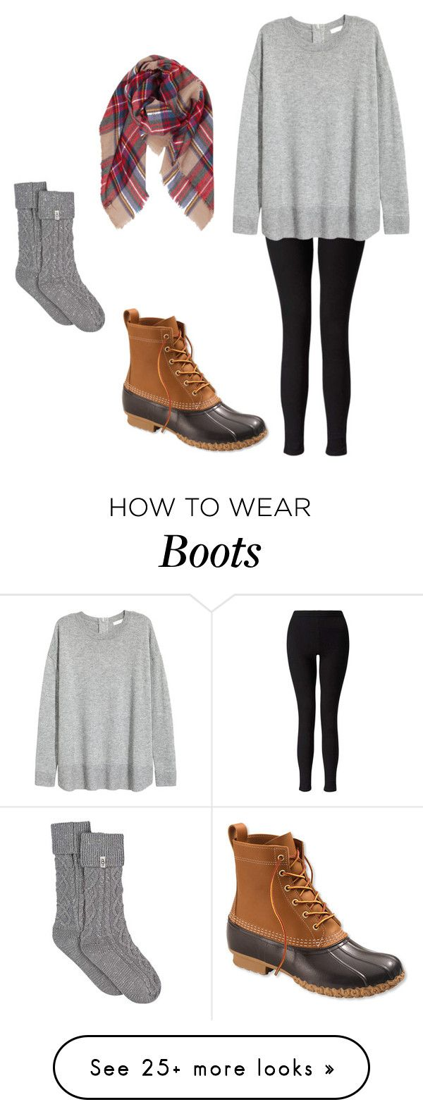 """Bean boots"" by laurennn73 on Polyvore featuring L.L.Bean, Miss Selfridge, UGG and Humble Chic"