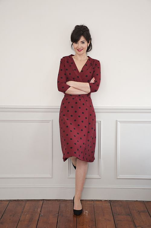 The 22 best 1940\'s Wrap Dress Sewing Pattern images on Pinterest ...
