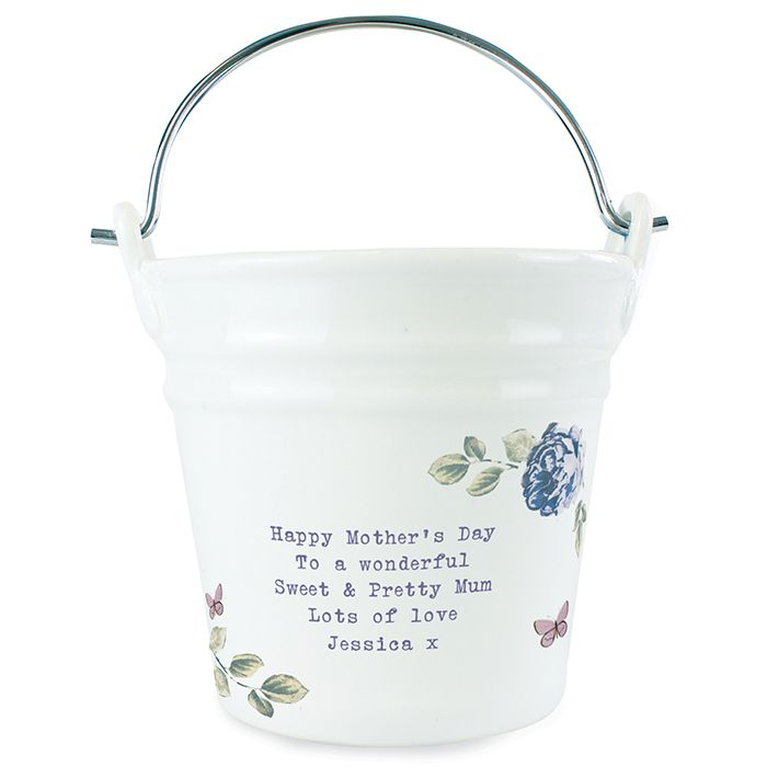 Personalised Secret Garden Porcelain Bucket