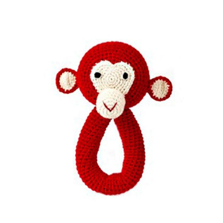 Anne-Claire Petit, Rassel Affe rot. [de.smallable.com - Design, Mode, Freude für 0-16 Jährige]