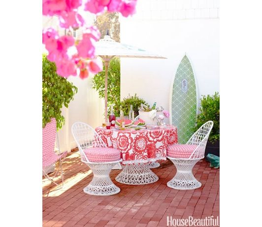 Best Furniture Images On Pinterest Patios Gardens And Hot Pink - Bright pink green colors outdoor home decorating romantic style