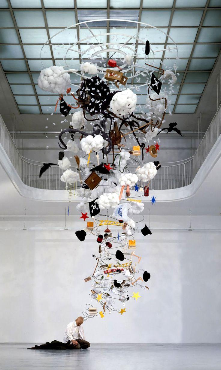 A Drunkard's Spiraling Thoughts - My Modern Metropolis. Contemporary artist Gilles Barbier's