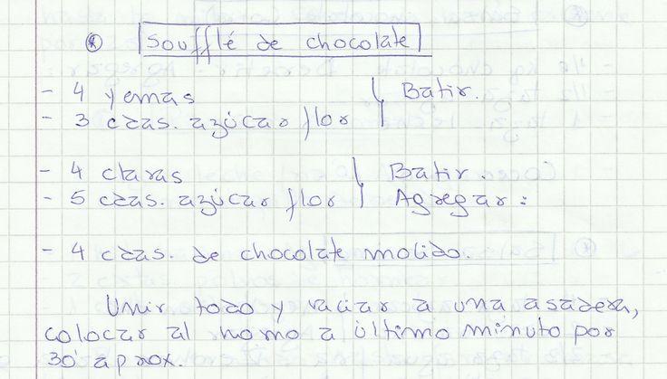 SOUFFLE DE CHOCOLATE   #DULCE #POSTRES #POSTRE #CHOCOLATE