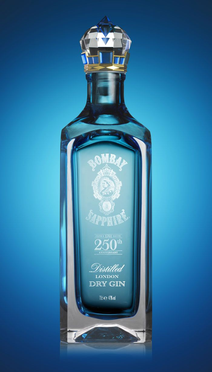 """Bombay Sapphire Limited Edition – a luxury packaging concept designed by Webb deVlam. It marks the 250th anniversary next year of the discovery of the secret recipe upon which Bombay Sapphire gin is based."""