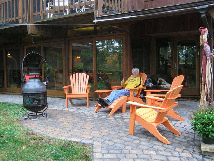 Seaside Casual Shellback Adirondack Chairs And Footstool Nashua Nh Purchased From Oasis Hot Tub